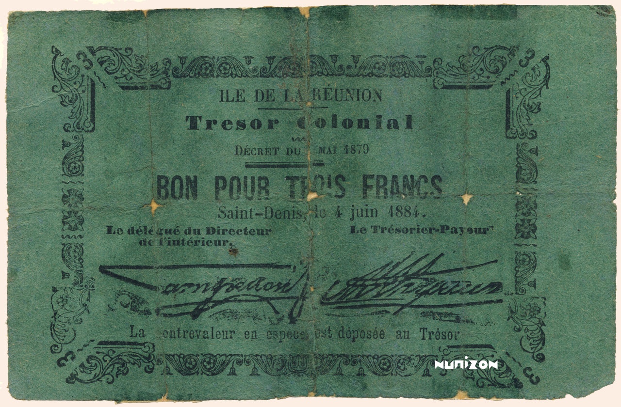 RECTO 3 francs 1884 Type 2
