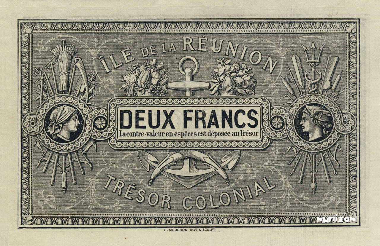 VERSO 2 francs 1886 Type 3