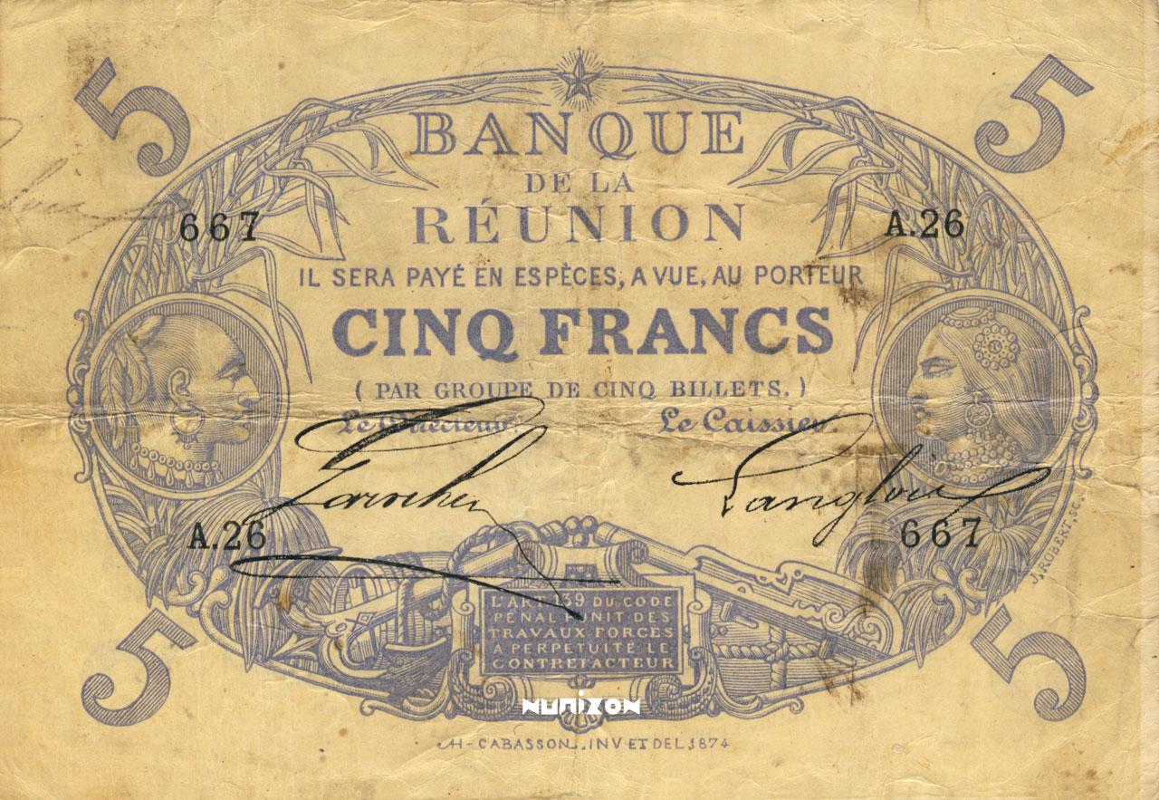 RECTO 5 francs Cabasson blue Type 1874