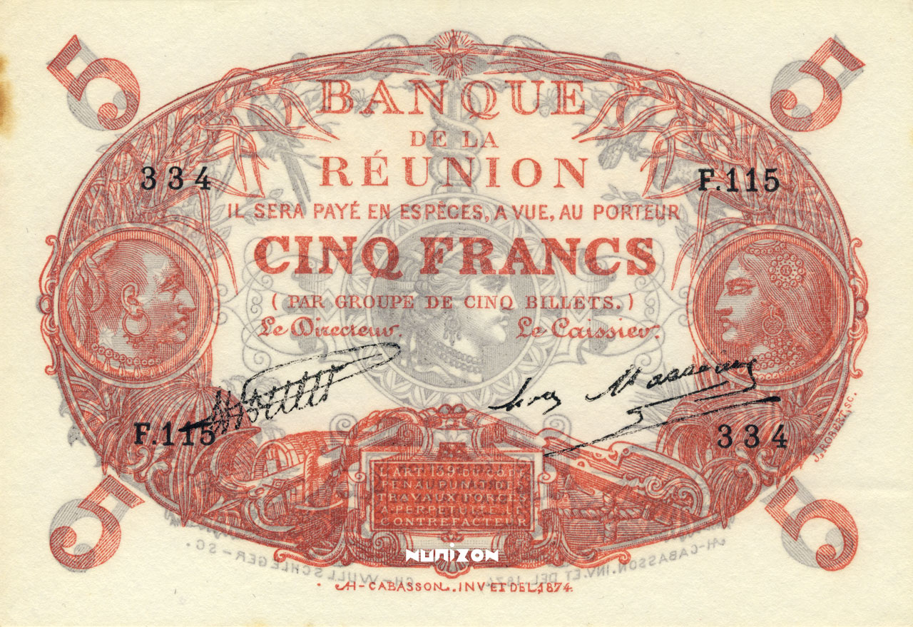 RECTO 5 francs Cabasson red Type 1901