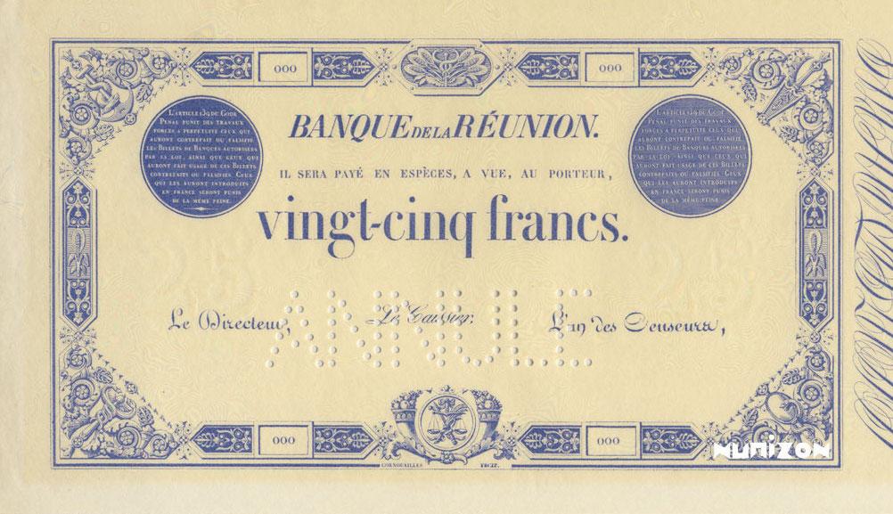 RECTO 25 francs Blue Type 1852