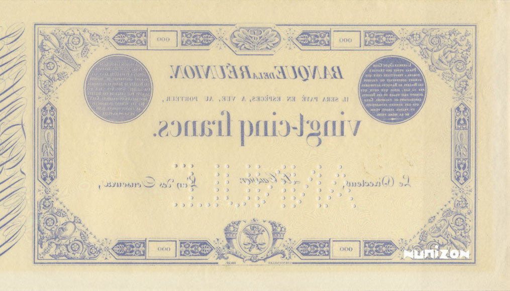 VERSO 25 francs Blue Type 1852