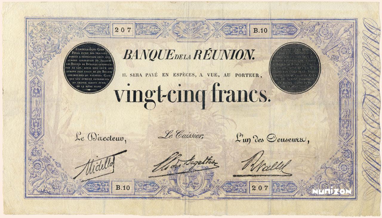 RECTO 25 francs Blue Type 1874