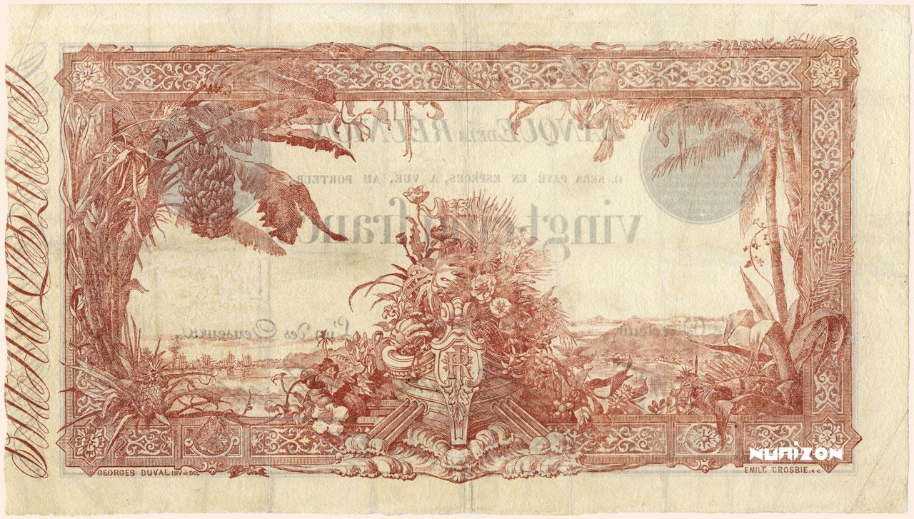 VERSO 25 francs Blue Type 1874