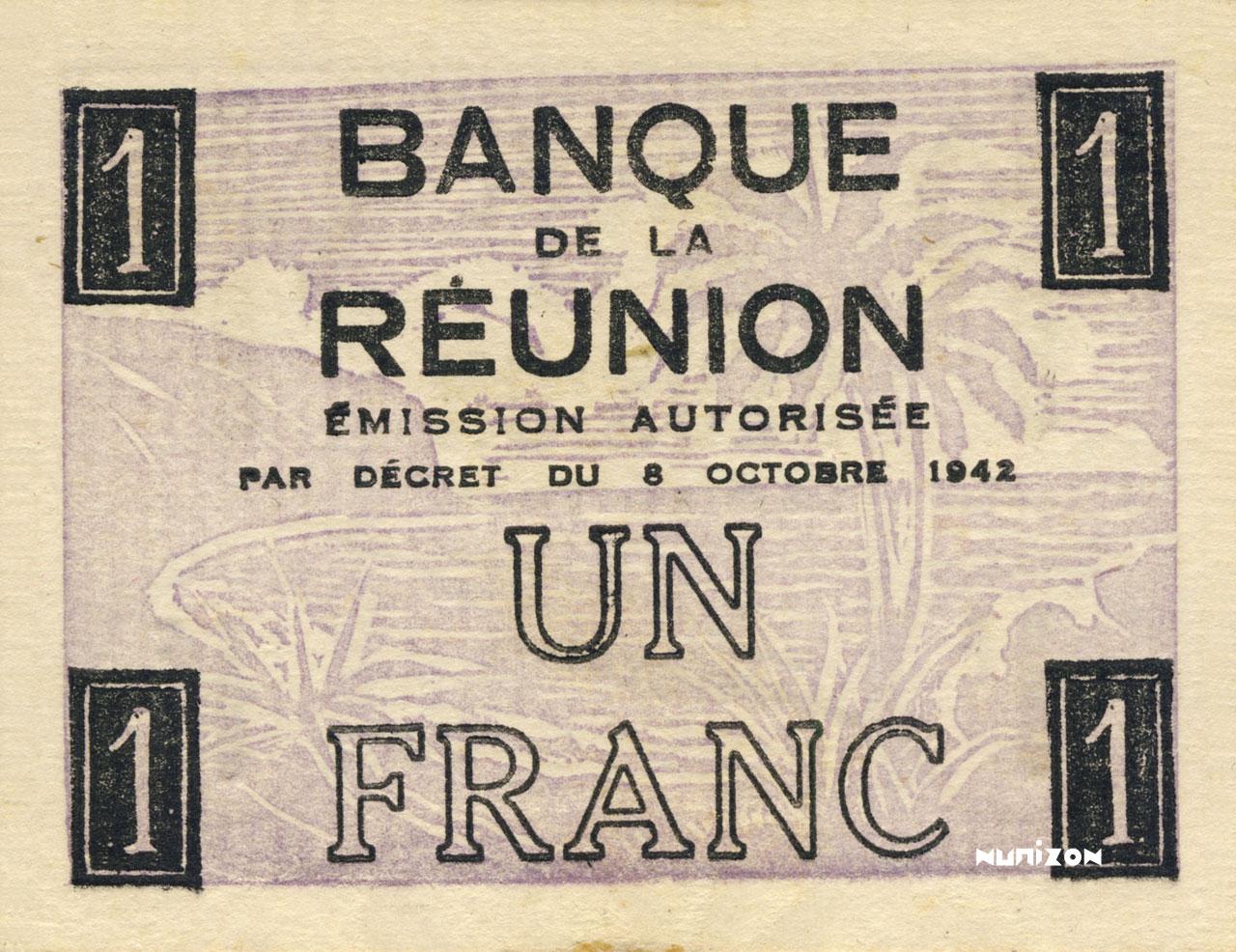 VERSO 1 franc Francisque Type 1942
