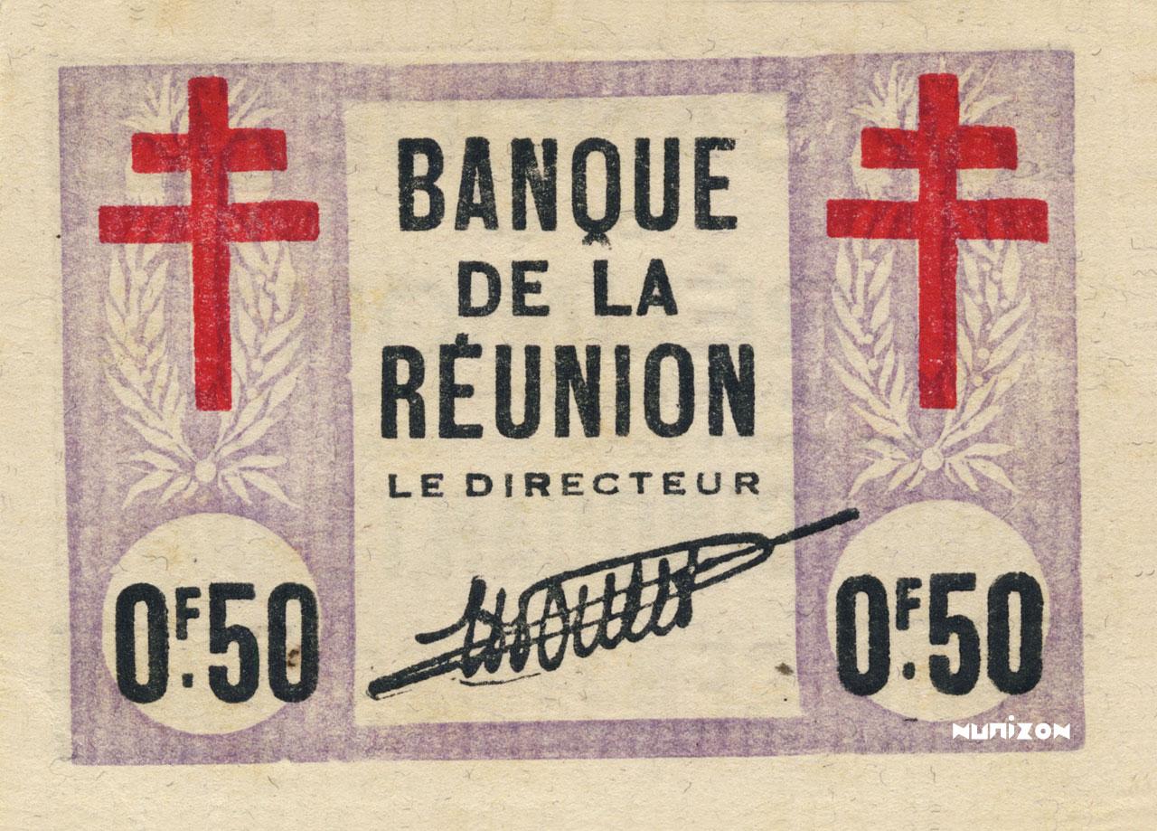 RECTO 50 centimes Cross of Lorraine Type 1943