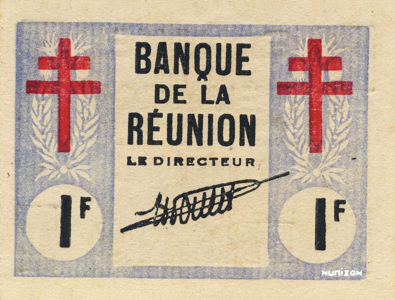 RECTO 1 franc Cross of Lorraine Type 1943