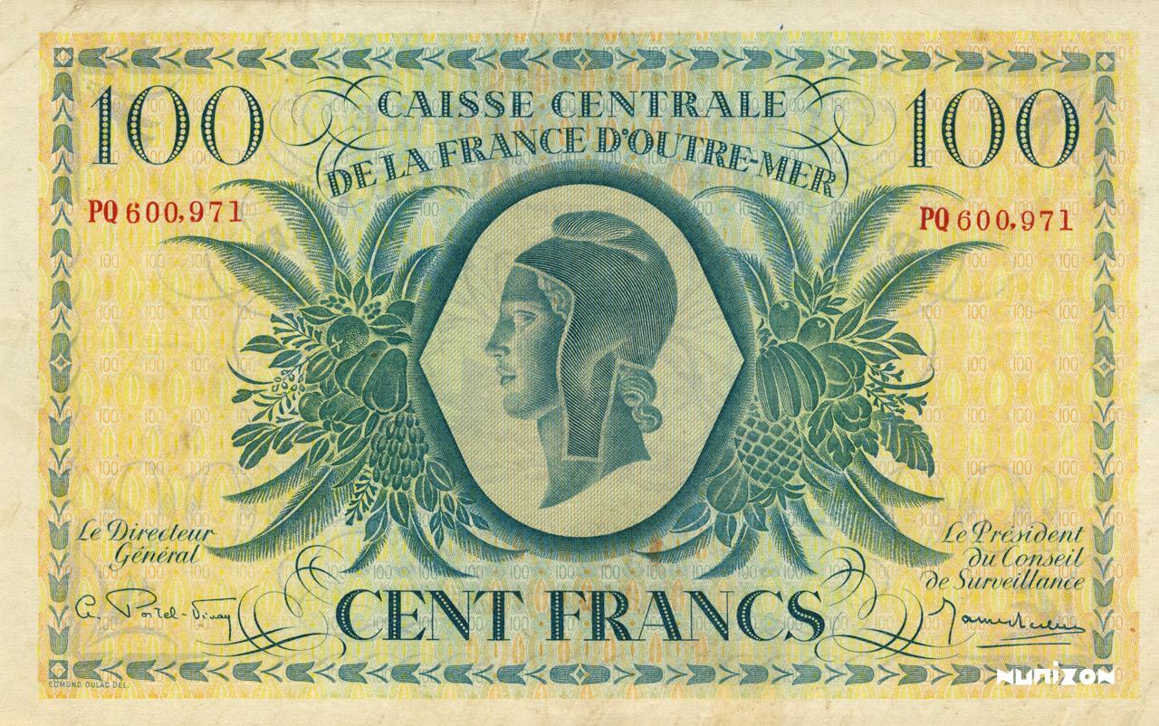 RECTO 100 francs Type 1944  (UK)