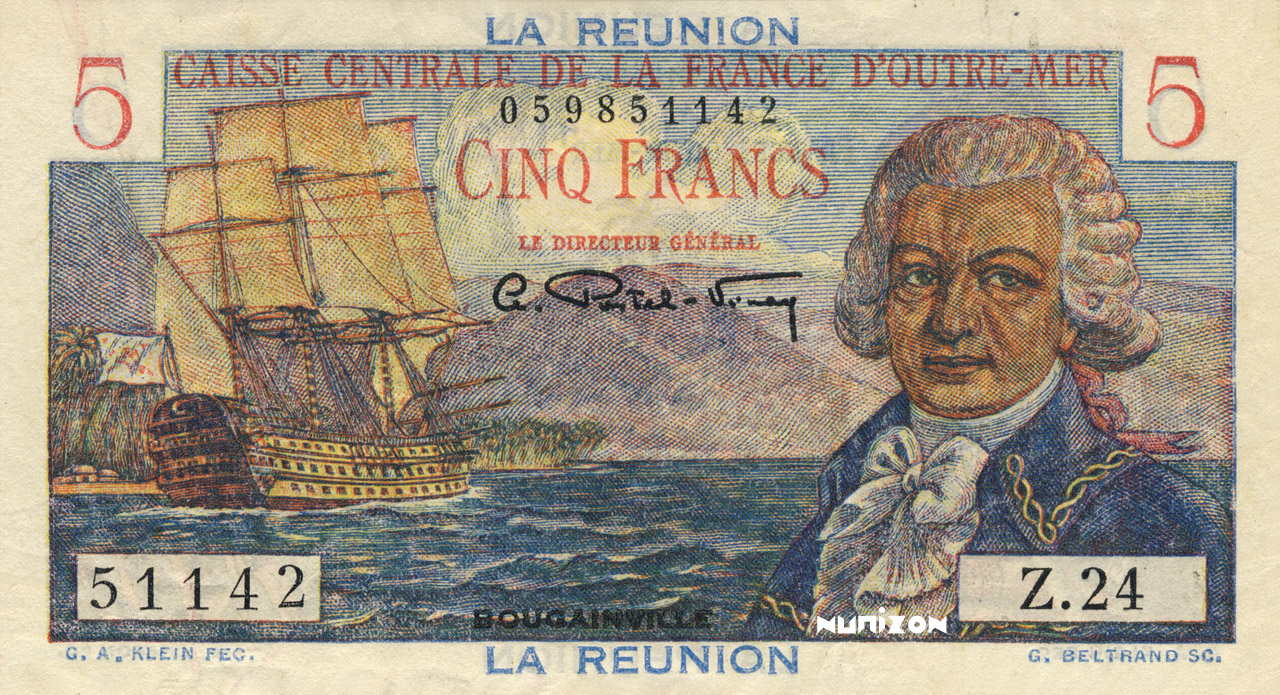 RECTO 5 francs Bougainville Type 1946