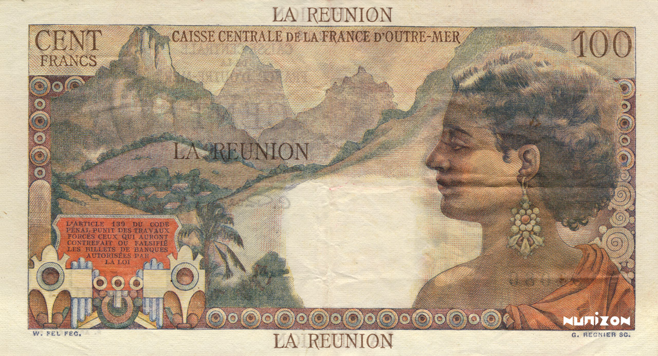 VERSO 100 francs La Bourdonnais Type 1946