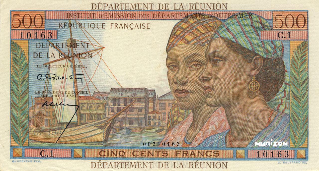 RECTO 500 francs Pointe à Pitre department Type 1964