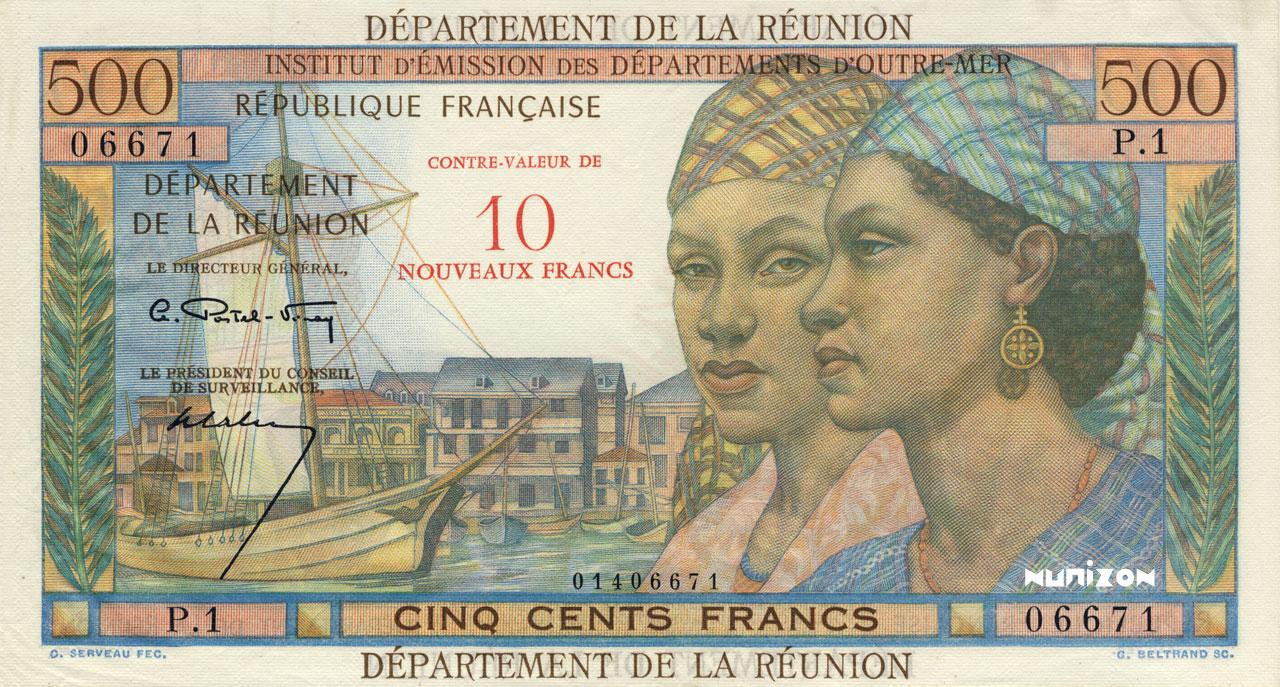 RECTO 10 NF/500 francs Pointe à Pitre Type 1967