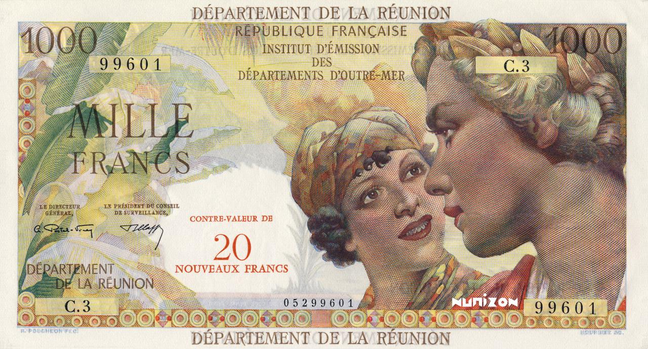 RECTO 20 NF/1000 francs Union française Type 1967