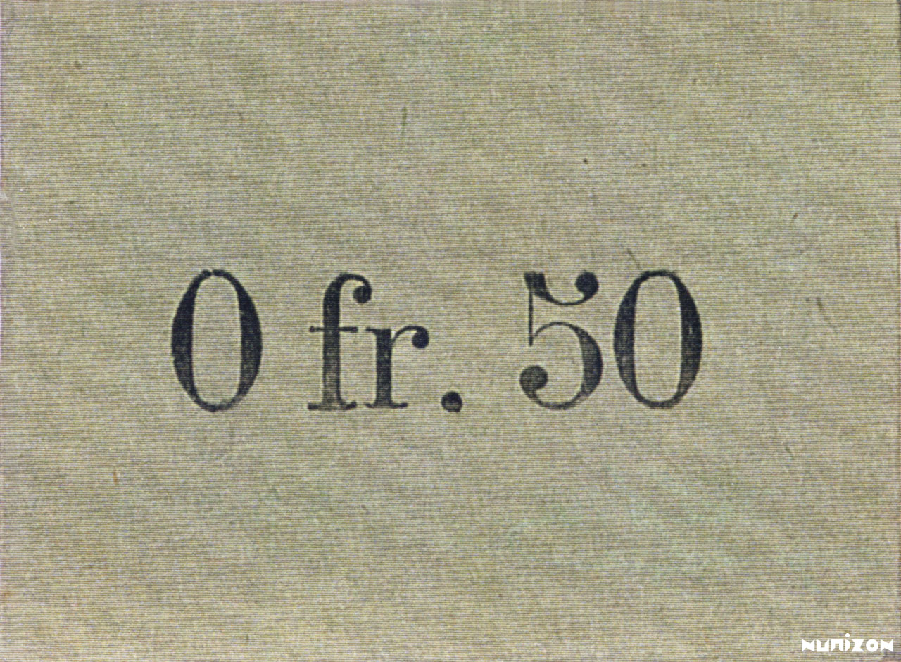 VERSO 50 centimes Type 1920