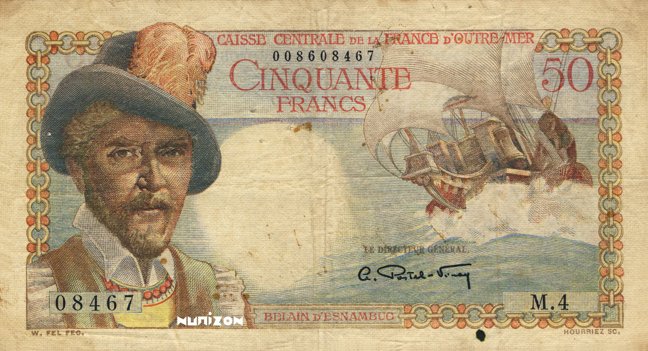 RECTO 50 francs Belain d'Esnambuc Type 1946