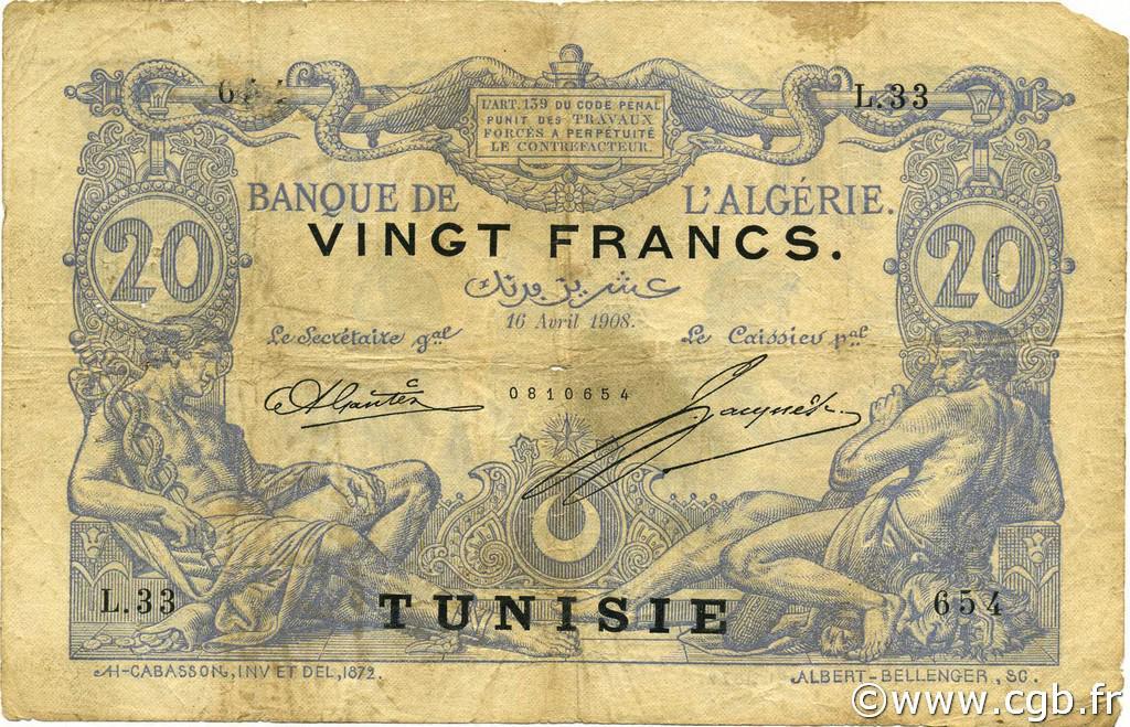 RECTO 20 francs Bleu Type 1873