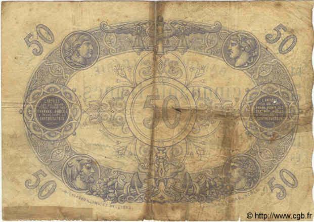 VERSO 50 francs Bleu Type 1873