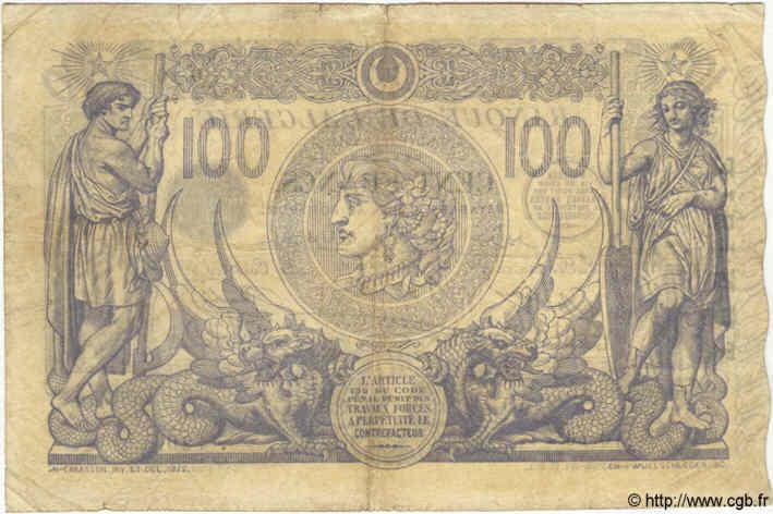 VERSO 100 francs Bleu Type 1874