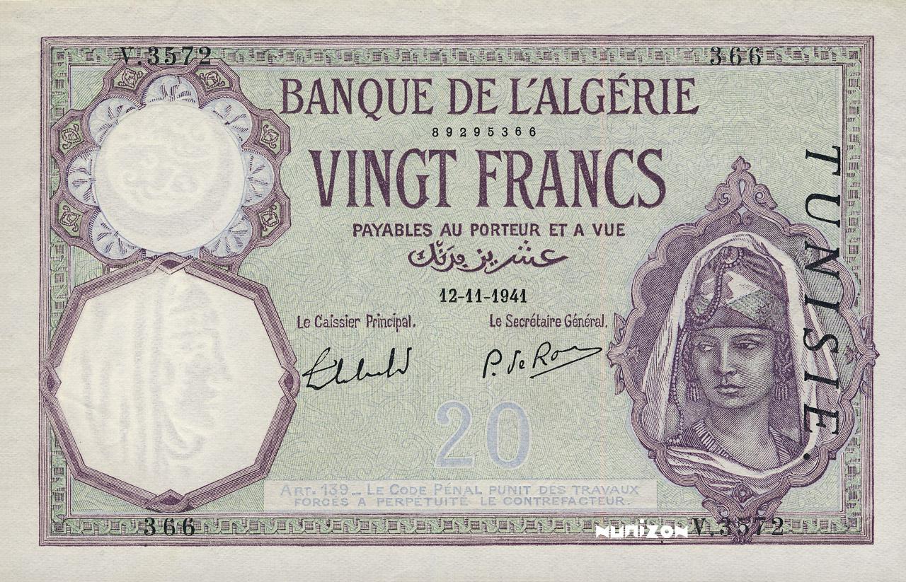 RECTO 20 francs Type 1912