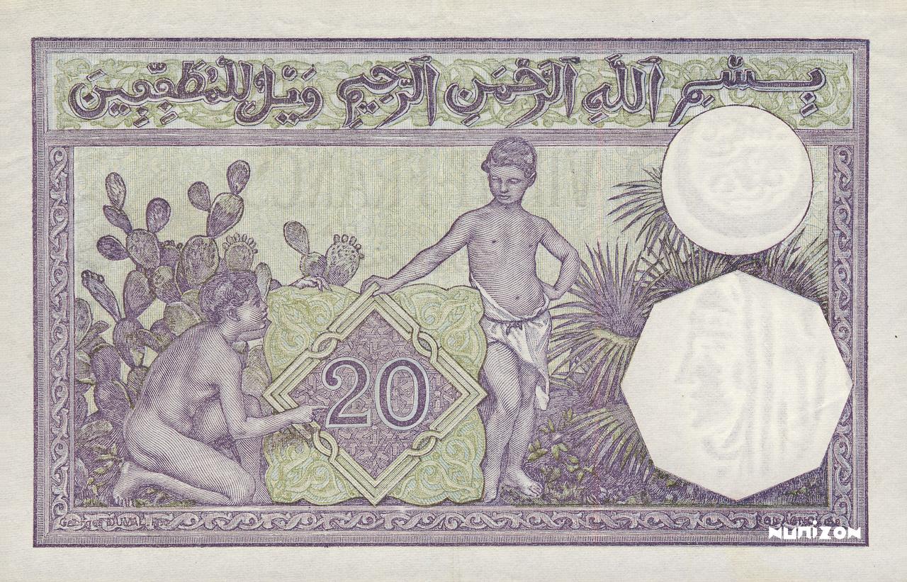 VERSO 20 francs Type 1912