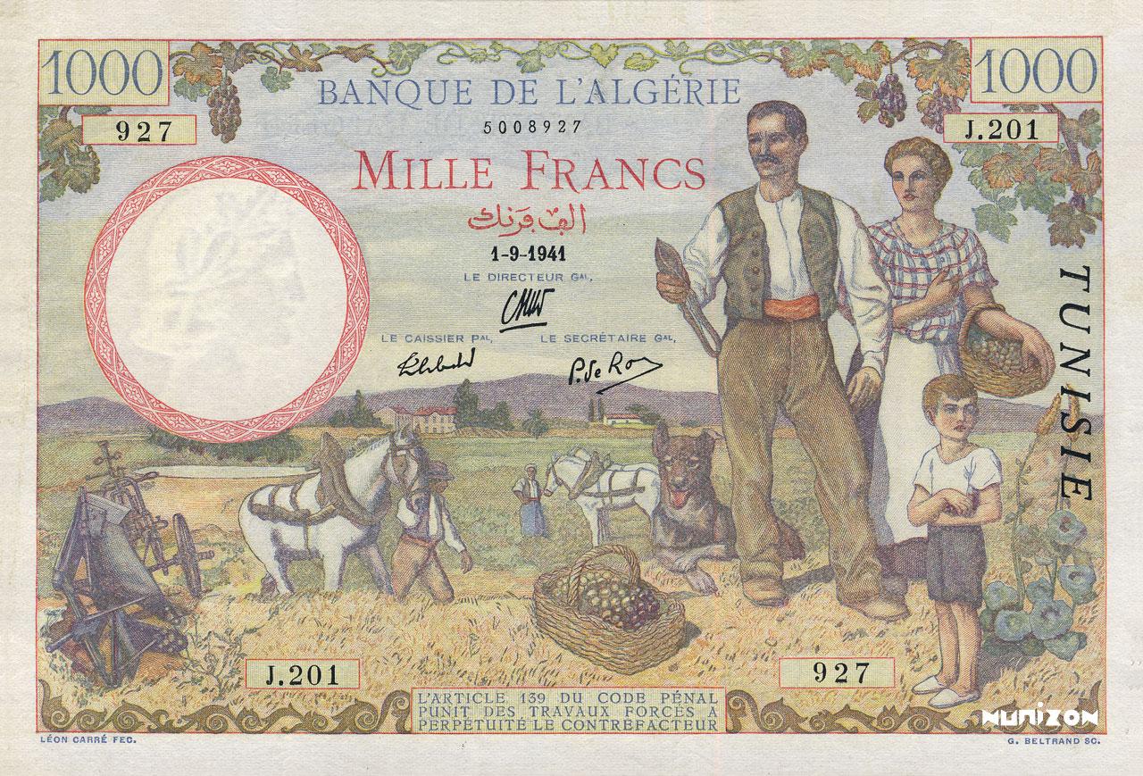 RECTO 1000 francs Famille de cultivateurs Type 1940