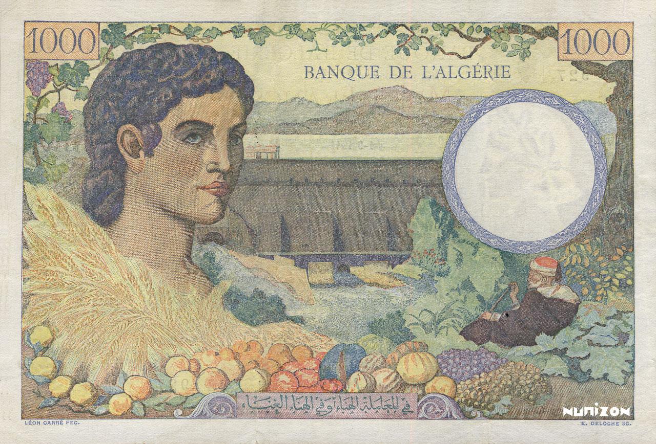 VERSO 1000 francs Famille de cultivateurs Type 1940