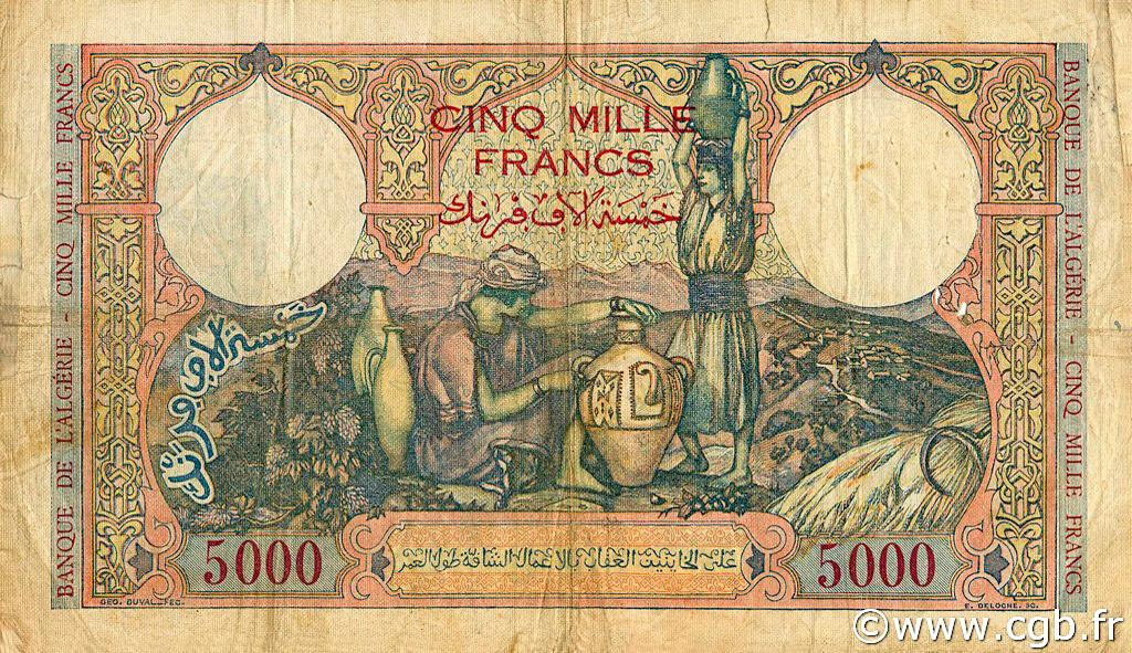 VERSO 5000 francs Type 1942