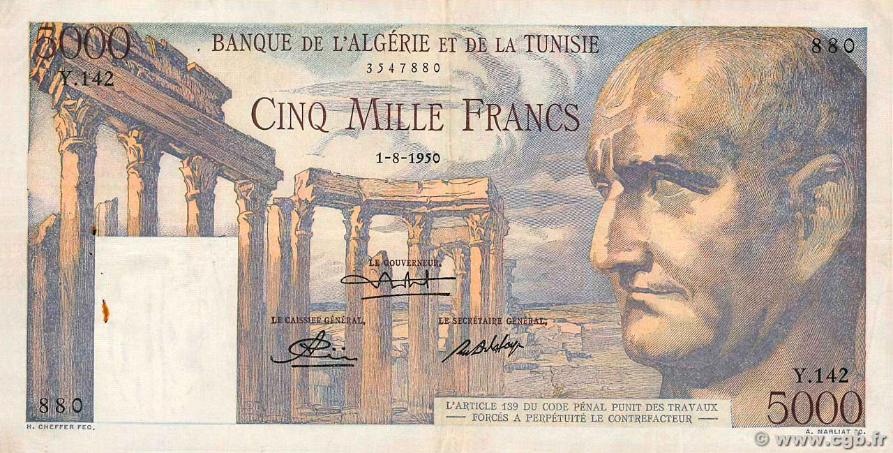 RECTO 5000 francs Emperor Vespasian Type 1950