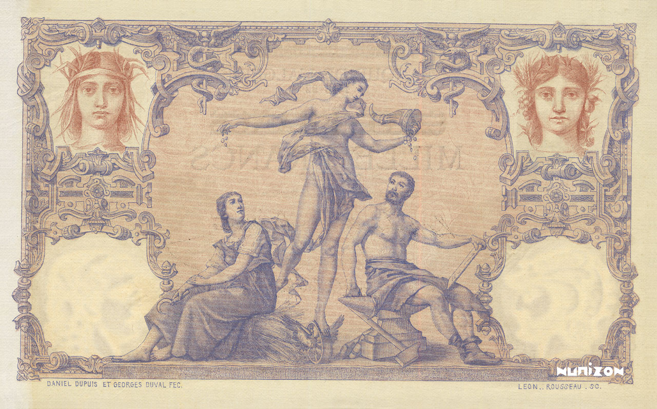 VERSO 1000F/100 francs Type 1892