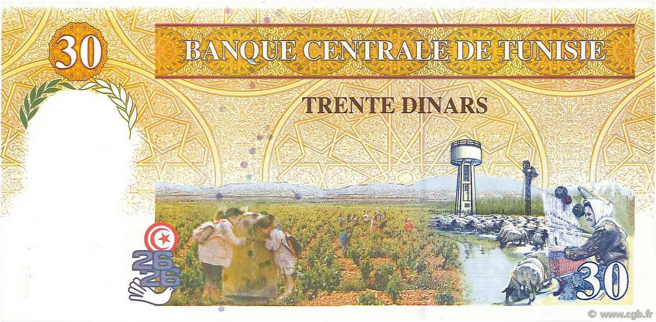 VERSO 30 Dinars Type 1997