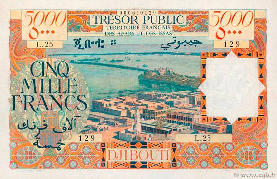 5000 francs Afars et Issas Type 1969 Pick##30