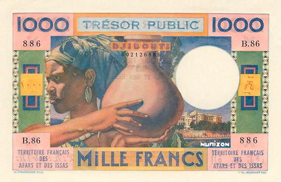 1000 francs Afars et Issas Type 1974 Pick##32