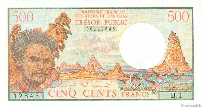 500 francs Afars et Issas Type 1975 Pick##33