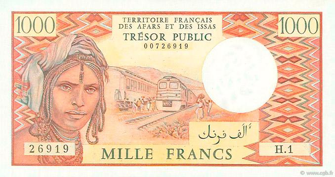 1000 francs Afars et Issas Type 1975 Pick##34