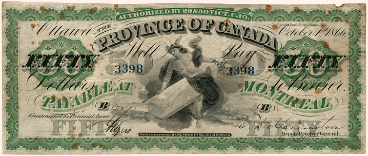 50 Dollars Type 1866 Pick##6