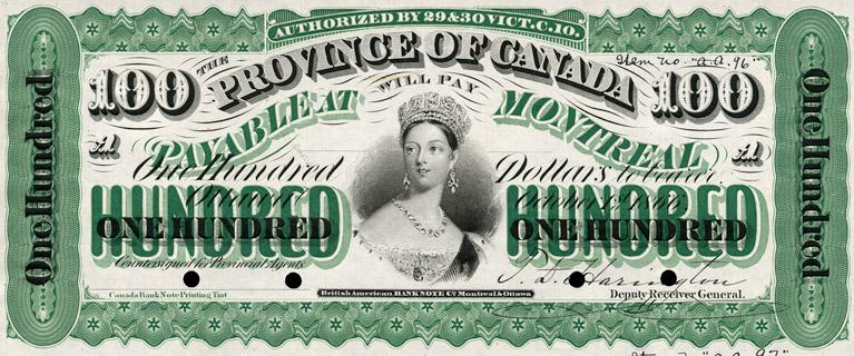 100 Dollars Type 1866 Pick##7