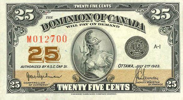 25 Cents Type 1923 Pick##10