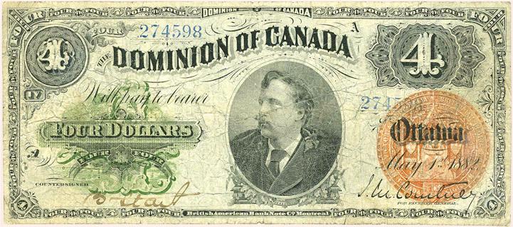4 Dollars Type 1882 Pick##20