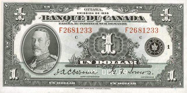 1 Dollar 1935 « French » Pick##39