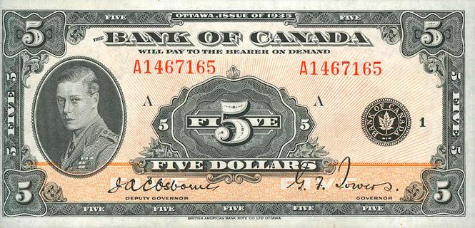 5 Dollars Type 1935 « English » Pick##42