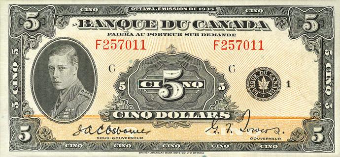 5 Dollars Type 1935 « French » Pick##43