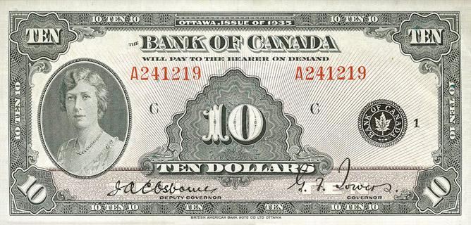10 Dollars Type 1935 « English » Pick##44