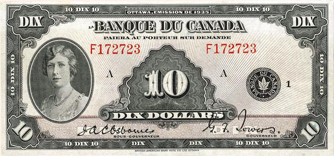 10 Dollars Type 1935 « French » Pick##45