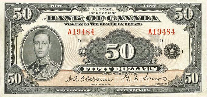 50 Dollars Type 1935 « English » Pick##50