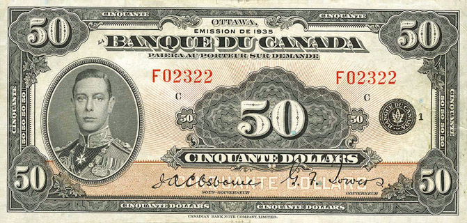 50 Dollars Type 1935 « French » Pick##51