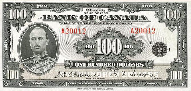 100 Dollars Type 1935 « English » Pick##52