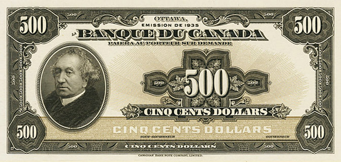 500 Dollars Type 1935 « French » Pick##55