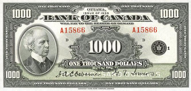 1000 Dollars Type 1935 « English » Pick##56