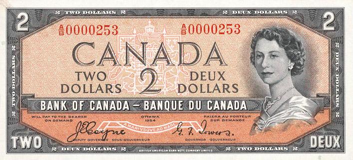 2 Dollars Type 1954 Devil's Face Pick##67