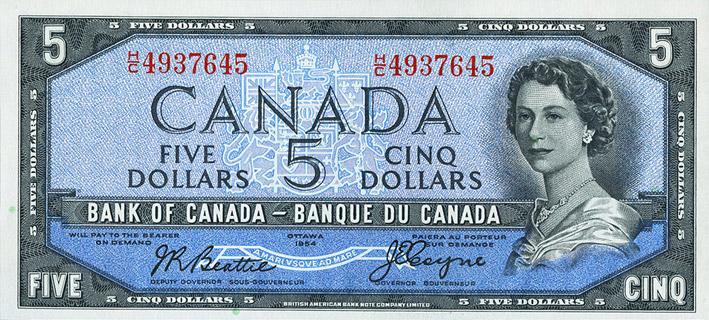 5 Dollars Type 1954 Devil's Face Pick##68